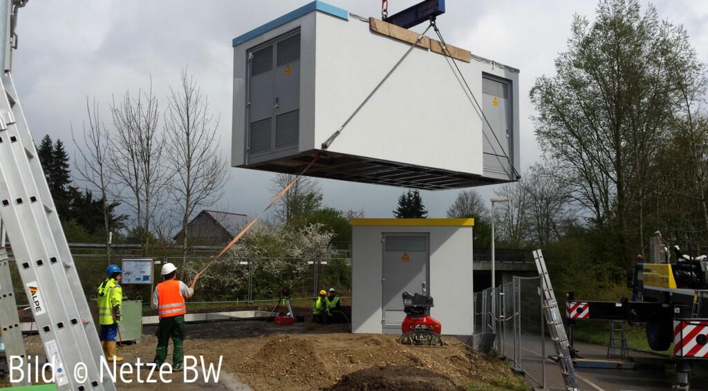 Aufbau eines Schaltwerkes für Mittelspannung (Bild: © Netze BW).