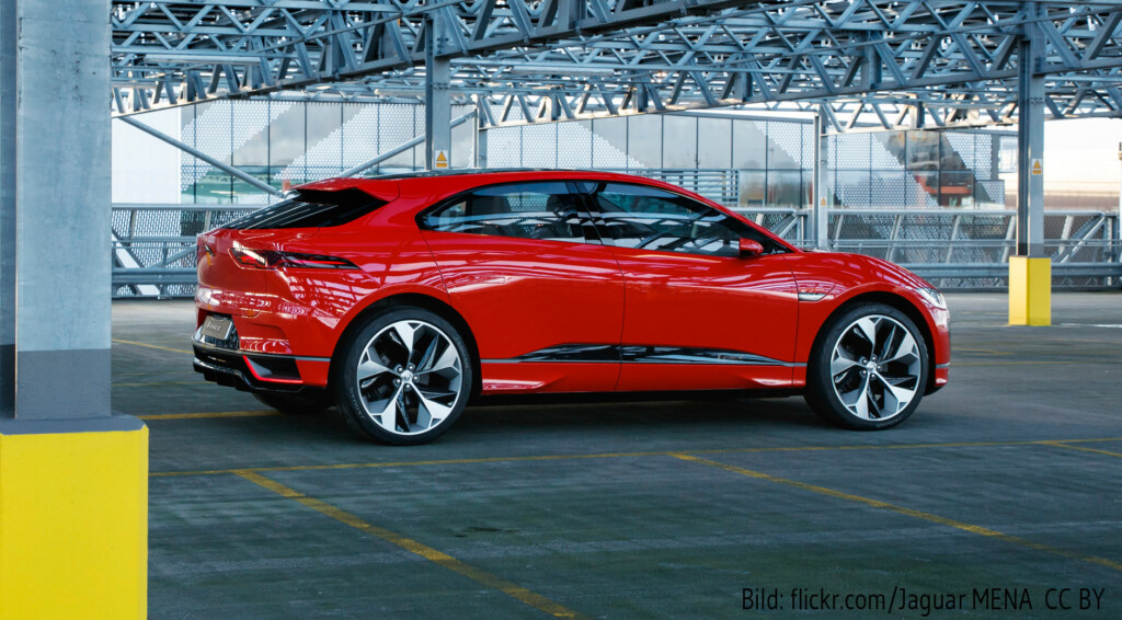 Der Jaguar I-PACE (Bild: flickr.com/Jaguar NEMA, CC BY).