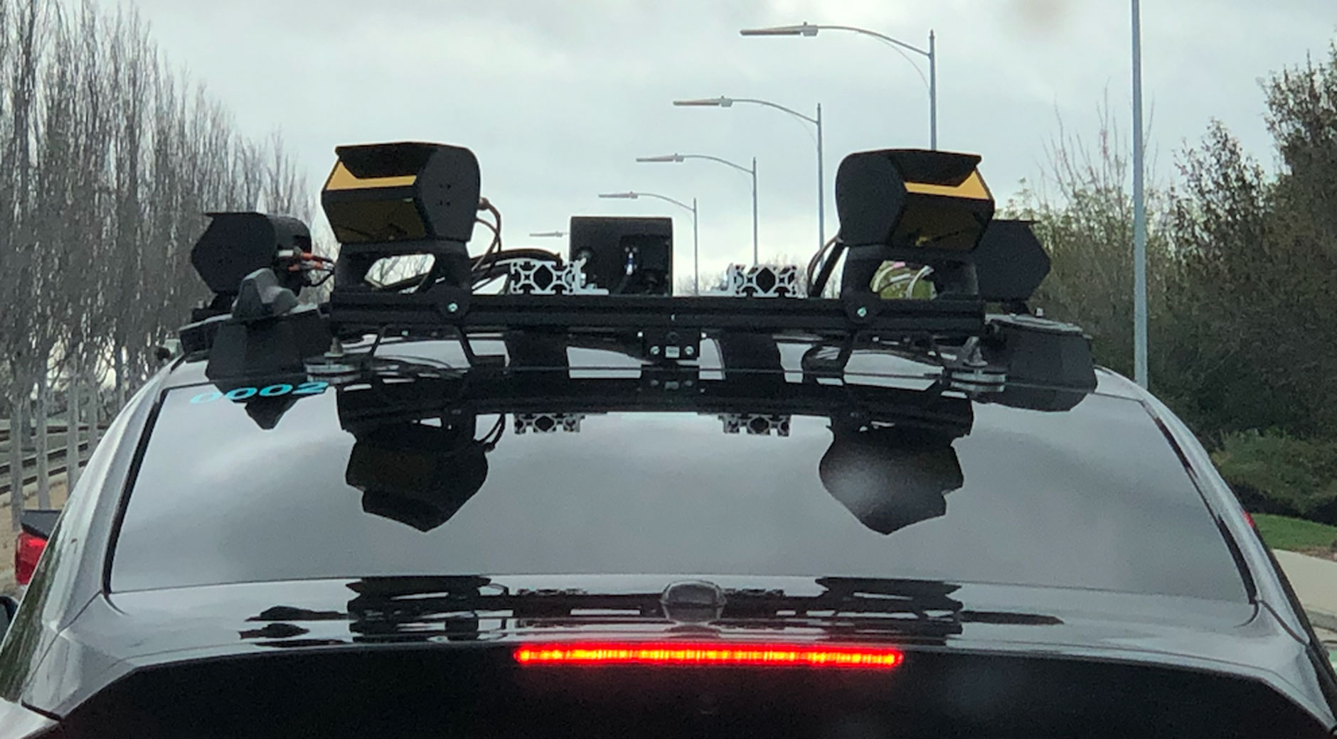 Autonom fahrendes Auto im Silcon Valley (Bild: © Mario Herger).