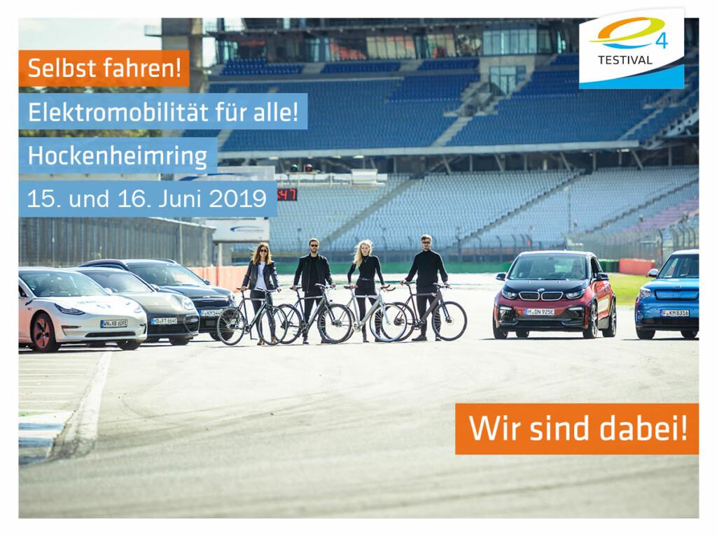 Das e4Testival am 15. und 16 Juni 2019 am Hockenheimring.